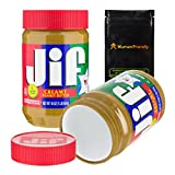 HumanFriendly Jif Peanut Butter Diversion Safe Stash Can w Smell-Proof Bag