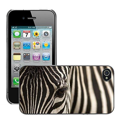 Premio Sottile Slim Cassa Custodia Case Cover Shell // V00002198 Zèbre // Apple iPhone 4 4S 4G