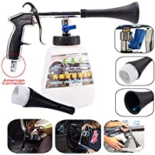 Leegoal Car Interior Cleaner, High Pressure Washing Gun with 1L Cleaning Bottle and Nozzle Sprayer, Air Pulse Equipment for Interior and Exterior Surface Tornado Tool(US Adapter)