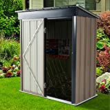 U-MAX 5' x 3' Outdoor Metal Storage Shed, Steel