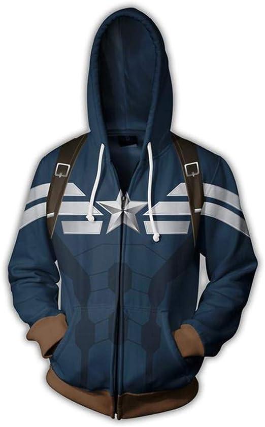 New Man Hoodie Captain America Sweater Cosplay Hooded Jacket Coat Cosplay Anime