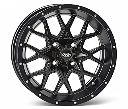 Amazon Com Itp Hurricane Utv Wheelsrims Matte Black 15 Polaris