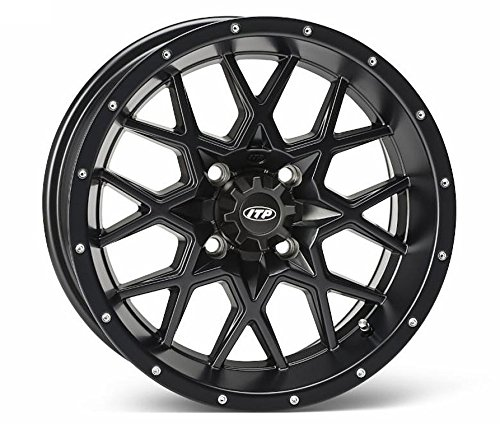 ITP Hurricane Matte Black ATV Wheel Front/Rear 14x7 4/156 - (6+1) [14RB123]