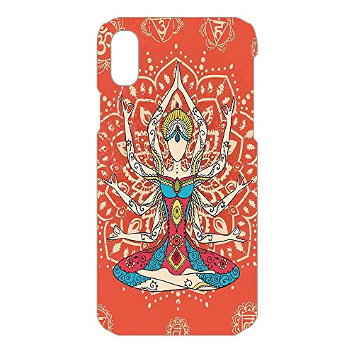 Phone Case Compatible 3D Printed 2018 Apple iPhone Xs MAX DIY Fashion Picture,Ethnic Costume Insignia Zen Discipline Your Body,Lovely Personalized Hard Plastic Phone Case Fashion Stylish]()