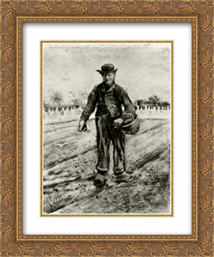 Vincent Van Gogh 2X Matted 20x24 Gold Ornate Framed Art Print 'Sower with Basket'