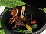 TOP-RATED-Cooking-Thermometer-Century-Chef-Digital-Stainless-Cooking-Thermometer-with-Instant-Read-Long-Collapsible-Probe-LCD-Screen-Anti-Corrosion-Best-for-Food-Meat-Barbeque-Grill-BBQ-Milk-and-Bath-