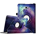 Fintie Rotating Case for Samsung Galaxy Tab E 9.6 - Premium PU Leather 360 Degree Rotating Cover Swivel Stand for Samsung Tab E Wi-Fi/Tab E Nook/Tab E Verizon 9.6-Inch Tablet, Galaxy