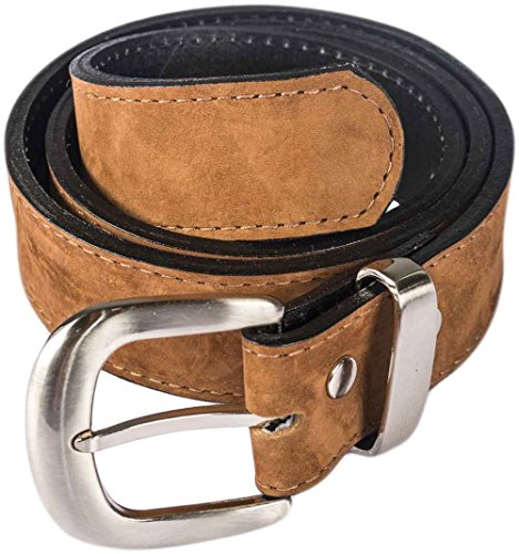 Atitlan Leather Black, Caramel Brown, and Blue Suede Leather Money Belts