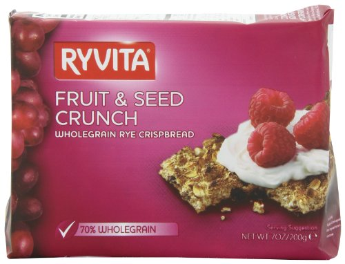 Ryvita Fruit and Seed Crunch Crispbreads, 7-Ounce Boxes (Pack of 10)