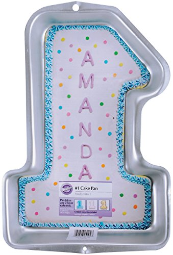 Wilton First Birthday Cake Pan, Kids 3D Number One Cake Pan (Number Cake Pans)