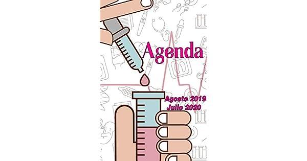 Amazon.com: Agenda Agosto 2019 - Julio 2020: Tema Enfermeria ...