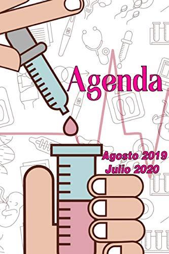Agenda Agosto 2019 - Julio 2020: Tema Enfermeria Medicina Agenda Mensual y Semanal + Organizador I Agosto 2019 a Julio  2020 6 x 9 in por Poblana Journals, Casa