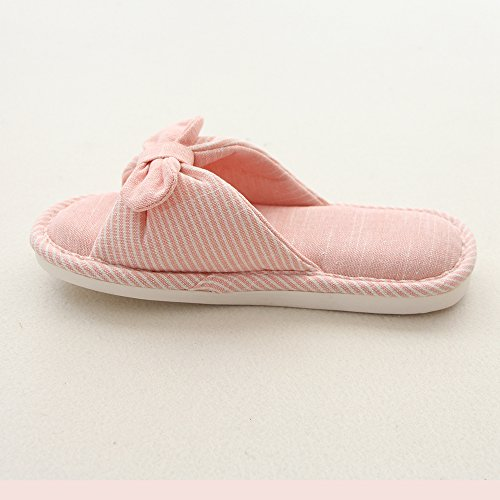 House Slippers Breathable Indoor Red Slip Soft Toe mianshe Non Knitted Unisex Casual Cotton Sandals Open ptCwnxOqI