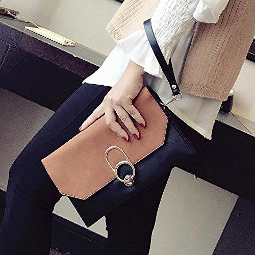 Aoligei Version coréenne sous enveloppe la mode chaîne d'une seule épaule sac simple tempérament capturées en main petite besace Sac B