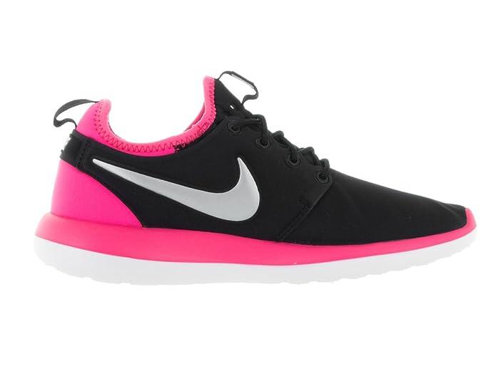 Nike Kids Roshe Two (GS) BlackMtlc PlatinumHyper Pink