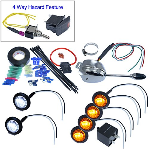 Turn Signal Kits (Install Kit & No Horn, Lever Switch) by Advance MCS Electronics