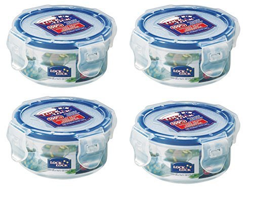 ebe8fd7e98c0 Lock & Lock 100ml Extra Small Round Storage Containers, Set of 4