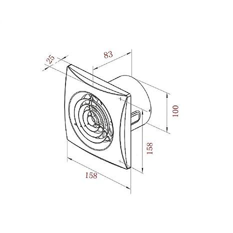 Amazon Com Bewox 4 Inch 100mm Bathroom Exhaust Toilet Extractor Fan