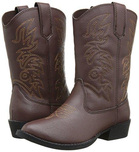 Deer Stags Ranch Kids Cowboy Boot (Toddler/Little Kid/Big Kid), Dark Brown, 12 M US Little Kid by Deer Stags (Image #6)