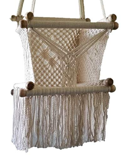 Baby Hanging Chair Handmade Macrame Cotton Beige/Indoor Outdoor Baby Chair Swing/Hanging Chair Swing