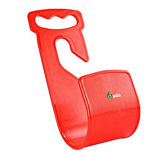 Gada Best Garden Hose Hanger,Wall Mount Hose Holder,Durable Rust-Free Hook (red)