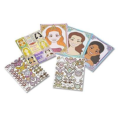 Melissa & Doug Make-a-Face Sticker Pad: Sparkling Princesses - 15 Faces, 4 Sticker Sheets: Melissa & Doug: Toys & Games