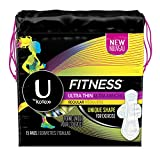 Health & Personal Care : U by Kotex Unscented Regular Absorbency Fitness Ultra Thin Pads with Wings, 15 Count