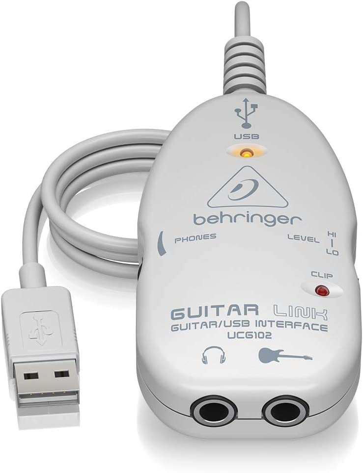 Behringer UCG102 GUITAR LINK Guitar-to-USB Interface for Mac OS X and Windows with Software and Accessory Bundle