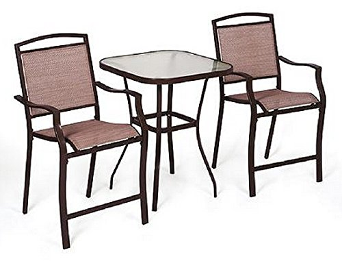 3 pc high top bistro table chairs set slingback material 2015 furniture tables kitchen dining. Black Bedroom Furniture Sets. Home Design Ideas