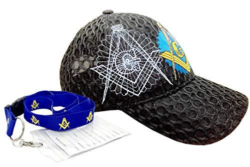 2781e3b6 Freemason Mason Symbol Adjustable 3D Embroidery Baseball Cap Hat (Black 2)