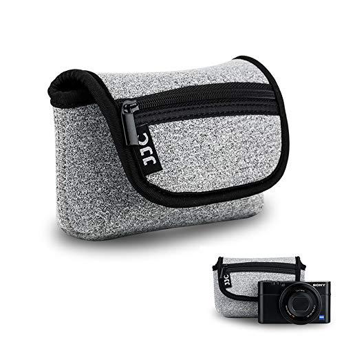 "Compact Digital Camera Pouch Case JJC for Sony RX100 VI V IV III II Olympus TG-5 TG-4 TG-3 Fuji XF10 Canon G7X Mark II SX720 Panasonic TS30 Ricoh GR II up to 4.4x2.6x1.5"" -Dark Gray"
