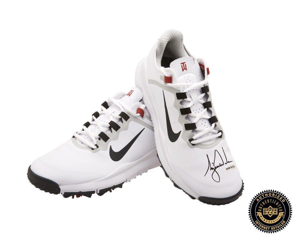 Tiger Woods Autographed Black Nike Golf Shoe - Upper Deck - Fanatics Authentic Certified - Autographed Golf Shoes
