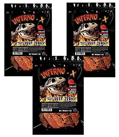 Inferno – X Carolina Reaper Beef Jerky, bolsa de 325 ml ...