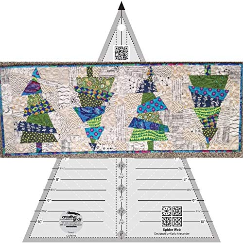 Bundle of Creative Grids Spider Web Quilt Ruler (CGRKA6) for sale  Delivered anywhere in USA