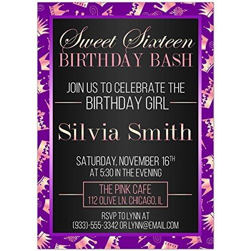 amazon com princess purple sweet sixteen 16 birthday party