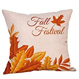 Pumpkin Letter Decorative Pillow Cover Pillow Case Sofa Back Throw Cushion Cover for Autumn Thanksgiving Day Christmas Halloween Day