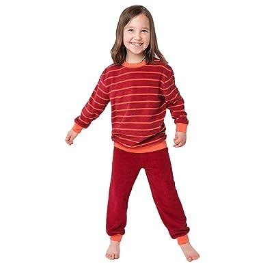 0654db1243 Living Crafts Kinder Frottee-Schlafanzug aus Bio-Baumwolle: Amazon ...