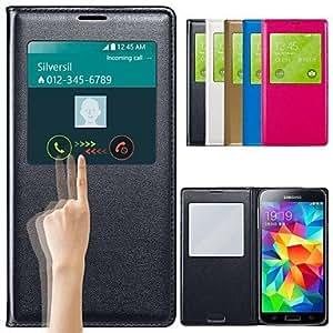 Teléfono Móvil Samsung - Carcasas de Cuerpo Completo - Color Sólido - para Samsung S5 i9600 ( Negro/Blanco/Azul/Rosa , Cuero PU ) , Blue