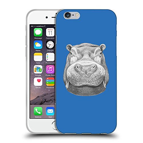 GoGoMobile Coque de Protection TPU Silicone Case pour // Q05270608 hippopotame 2 Azur // Apple iPhone 7