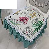 Universal seat covers of the four seasons/ Pastoral cloth dining chair cushion/Fashion skirt lace pad-A 48x46cm(19x18inch)