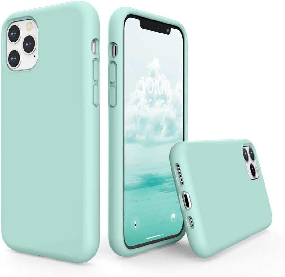 SURPHY Silicone Case Compatible with iPhone 11 Pro Case 5.8 inches, Liquid Silicone Full Body Thickening Design Phone Case (with Microfiber Lining) for 11 Pro 5.8