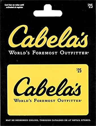 Cabelas $25 Gift Card