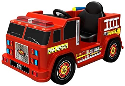 Amazon.com: Kid motorz 6 V una plazas Fire Engine Ride-On ...