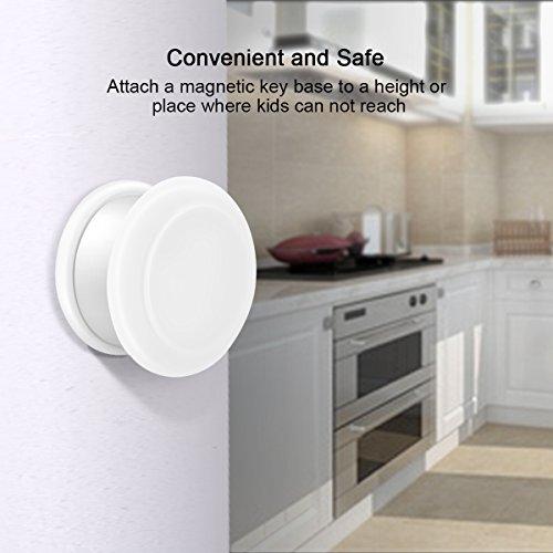 Baby Safety Magnetic Cabinet Lock Set HURRISE Child Safety Locks Kids Toddler Proofing Hidden Cupboard Drawer Locking System No Drilling & Screws (16 Locks & 3 Keys) by HURRISE (Image #5)