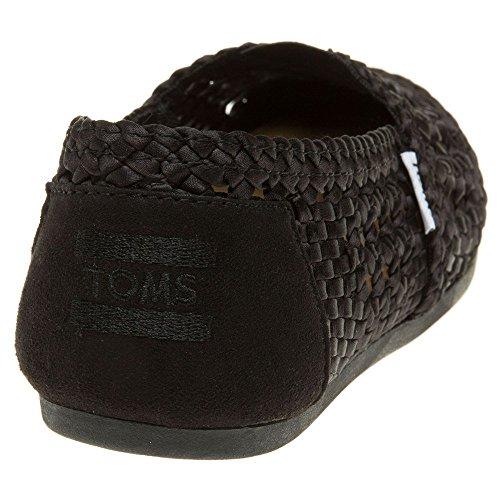 TOMS 10004904 Toms Women's Woven Classic Espadrille Pumps US5 Black