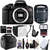 Canon EOS Rebel T6i 24.2MP Digital SLR Camera with 18-55mm EF-IS STM Lens , SFD-740C Speedlite Flash and Accessory Kit
