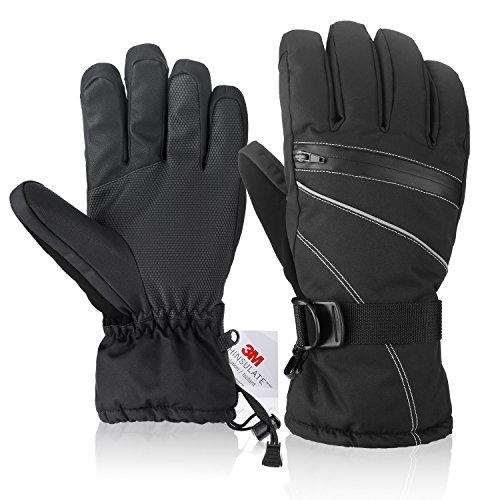 Fazitrip 3M Thinsulate Men's Ski Gloves /Winter Gloves/Sport Gloves with Sensitive Touchscreen...
