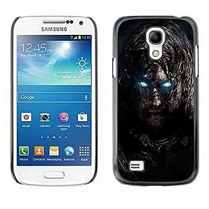 Caucho caso de Shell duro de la cubierta de accesorios de protección BY RAYDREAMMM - Samsung Galaxy S4 Mini i9190 - Glowing Eyes Guerrero