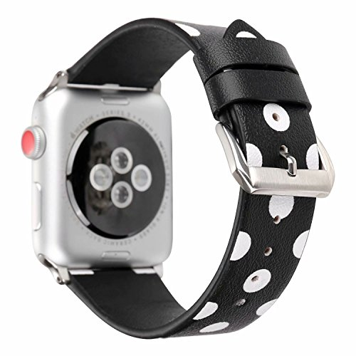 - MagicFeel Polka Dots Printed Leather Strap Wrist Band Replacement for Apple Watch iWatch Series 1 Series 2 Series 3 All Models 38mm