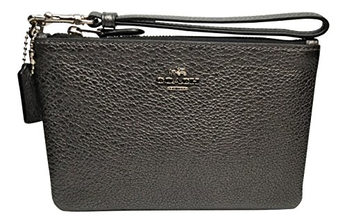 Coach Metallic Pebbled Leather Small Wristlet ()